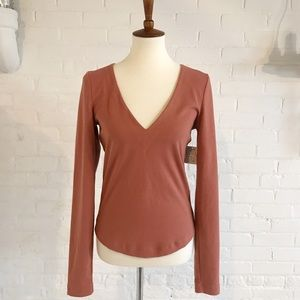 NWT Free People Salmon colored Top Med